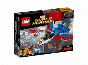 Lego Marvel Super Heroes 76076 Воздушная погоня Капитана Америка Лего Марвел (01 - 06.2017)